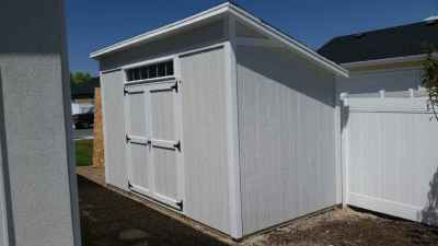 lean-to shed overhang and transom window