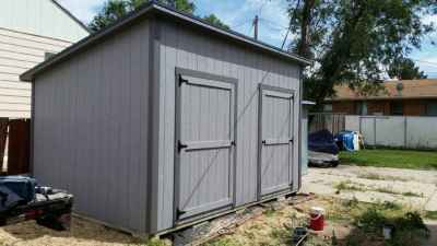lean-to shed two doors