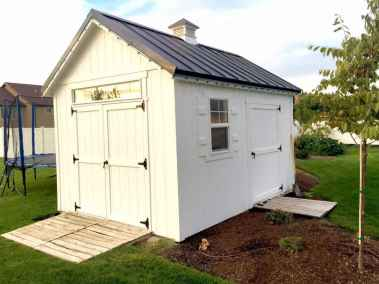 white and black orchard shed