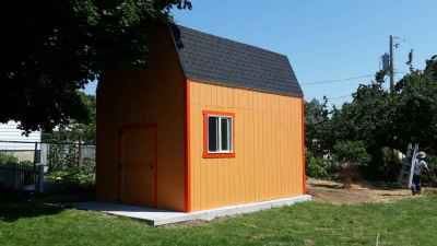 10 ft farm shed