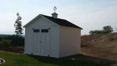 orchared shed with cupola