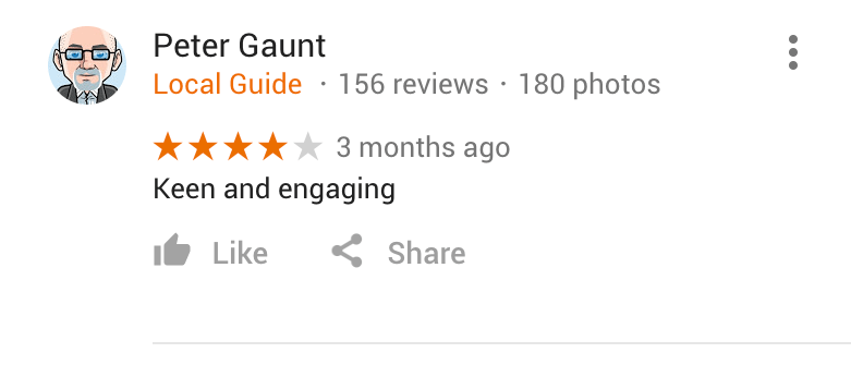 Google Review fro Wrigley Claydon Solicitors