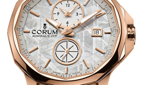 corum-admirals-cup-legend-42-meteorite-dual-time-watch-dial