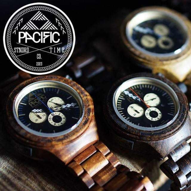 Pacific Standard Time Wood Watches