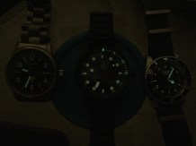 Lume comparisons - the Junkers G-38, the Minus-8 Diver, and the Invicta 8926OB