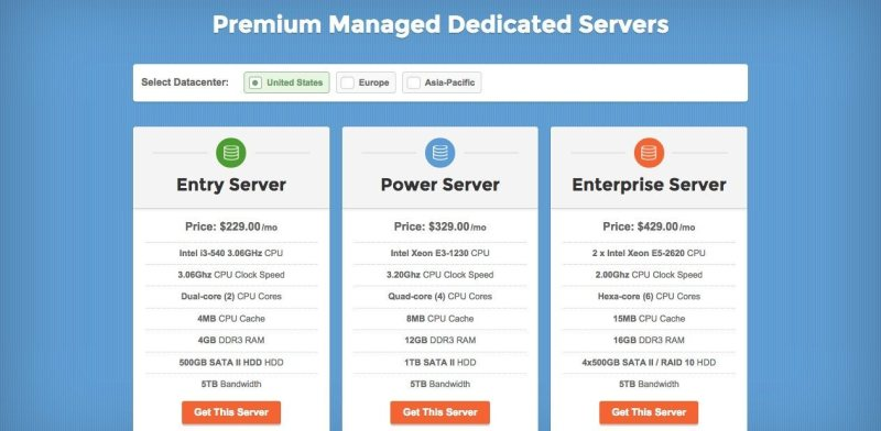 Premium Managed Dedicated Servers