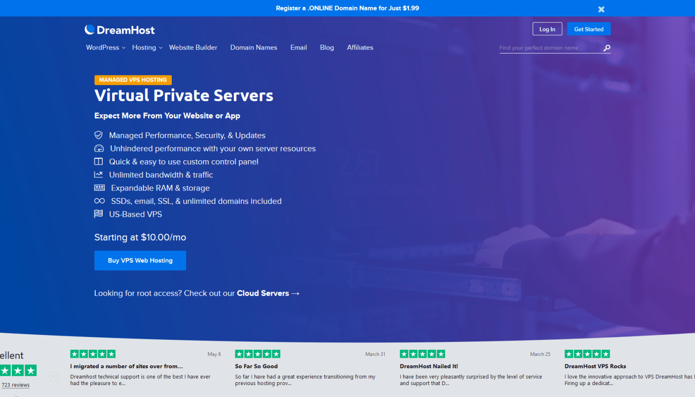DreamHost VPS Reviews 2019 – Entry Level Managed VPS Hosting