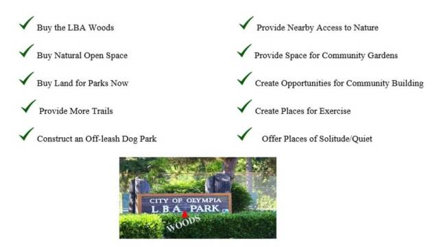 LBA Woods Park Sign and Checklist