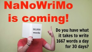 As NaNoWriMo Approaches…