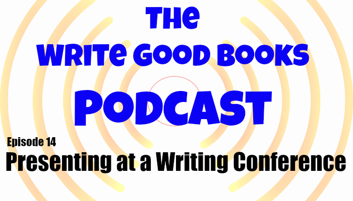In this episode of The Write Good Books Podcast, Jason and Scott talk about what it takes to present at a writing conference, how to become a presenter and how to prepare for a presentation or sit on a panel.