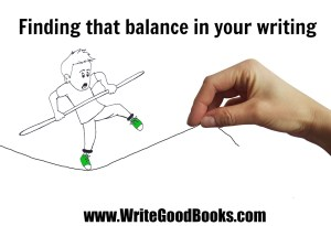 Finding the proper balance between time spent writing versus the time spent on the business side of writing is vital. If you spend too much time on one aspect of your writing career, other parts of it may suffer.