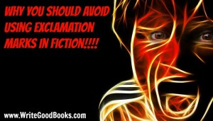 Why you should avoid using exclamation marks in fiction.