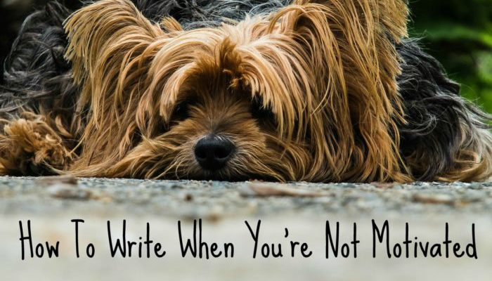 How to write when you're not motivated