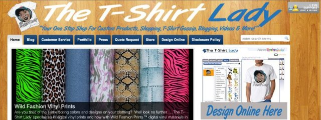 T-Shirt Lady small business owner designs
