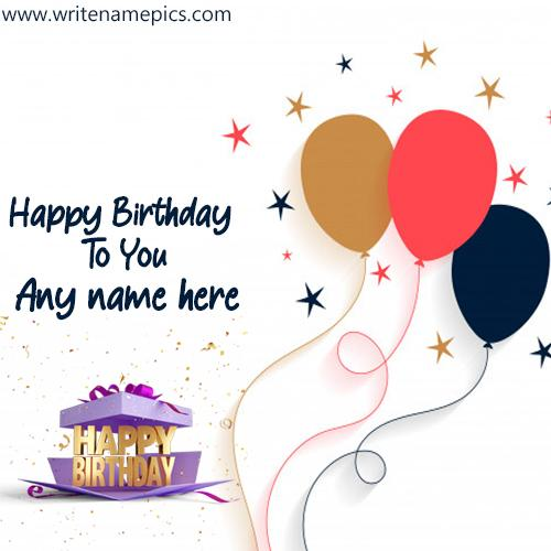 Happy Birthday Wishes Cards With Name Images For Free