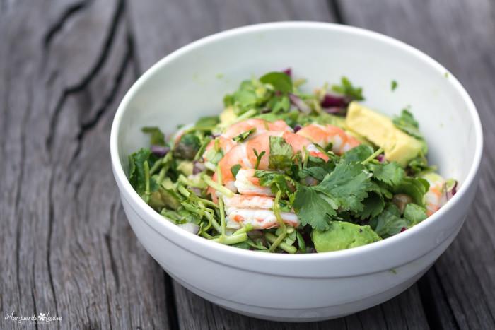 Prawn Avocado and Watercress Salad