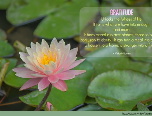 Gratitude, Quote, Lotus Flower