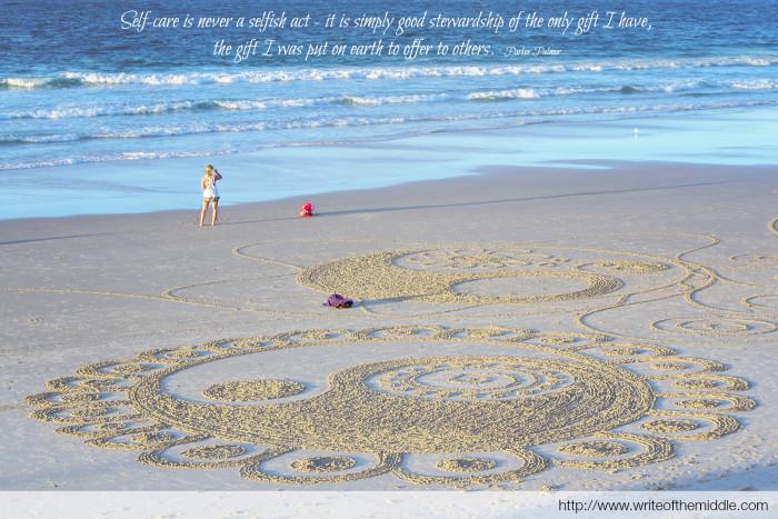 self care, beach, byron bay