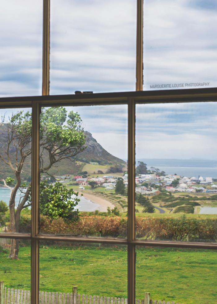 stanley, view, window, highfield house, tasmania