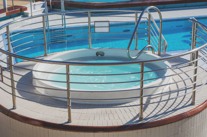 spa, pool, whirlpool, sun princess, cruise ship