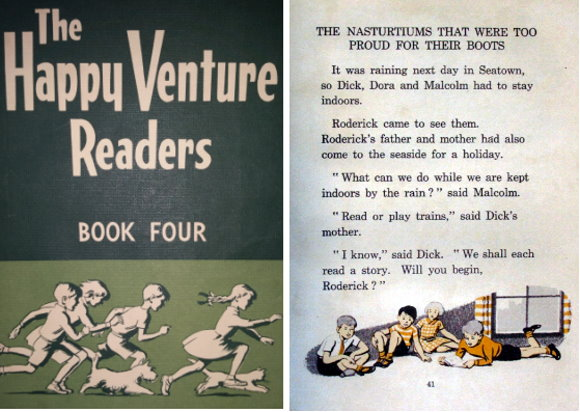 Dick and Dora, Nip and Fluff, Readers, Childhood, Books, School Readers, Happy Venture Readers