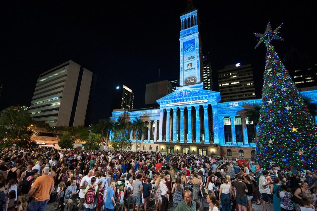Brisbane, King George Square, City Hall, Christmas, Christmas Tree
