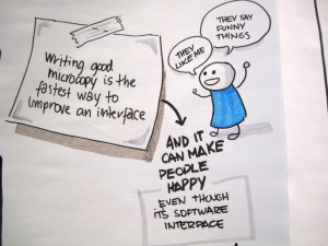 Better writing is important for a software interface, too.