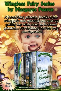 The Wingless Fairy Series Book cover blurb vertical graphic