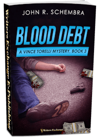 A Vince Torelli Mystery, Book 3: Blood Debt 3d covers
