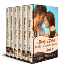 Family Heirlooms Series Boxed Set with covers on spine