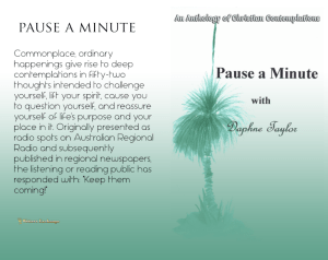Pause a Minute Print cover