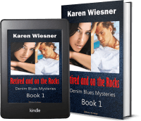 Denim Blues Mysteries, Book 1: Retired and on the Rocks 2 covers