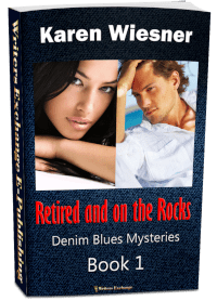 Denim Blues Mysteries, Book 1: Retired and on the Rocks 3d cover