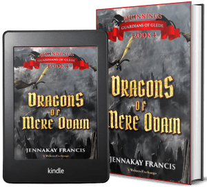 Guardians of Glede: Beginnings Book 4: Dragons of Mere Odain 2 covers
