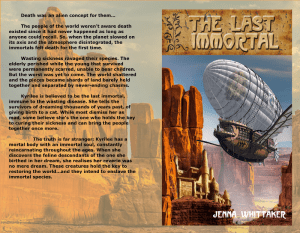 The Last Immortal Print cover