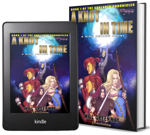 A Ring Realms Novel: Shaladen Chronicles Book 1: A Knot in Time 2 covers