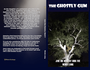 Jane Doe Mystery, Book 5: The Ghostly Gum Print cover