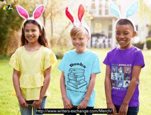Book addicts merch - worn by three kids