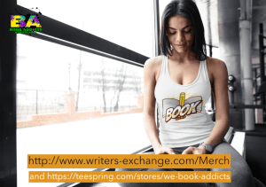 lady wearing booknerd shirt with both store links