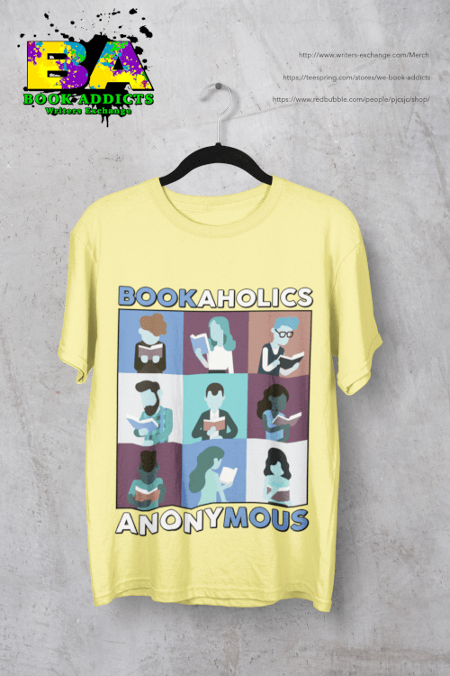 Bookaholics Design on a TShirt