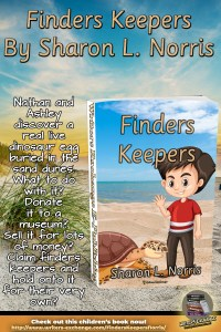 Finders Keepers by Sharon L. Norris vertical book with blurb graphic