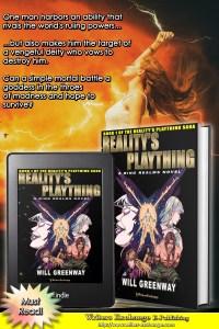 A Ring Realms Novel: Reality's Plaything Saga Book 1: Reality's Plaything by Will Greenway book with blurb graphic