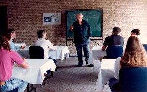 Algis instructing at the Writers Workshop held at George Washington University