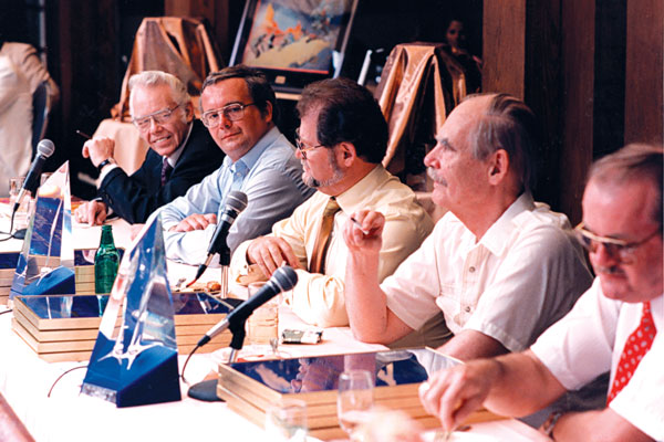 Frank Kelly Freas, Ramsey Campbell, Larry Niven, Frederik Pohl and Dr. Jerry Pournelle.