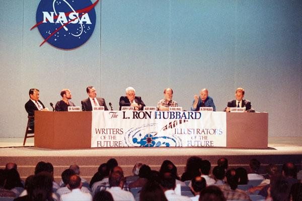 Yoji Kondo, Kevin J. Anderson, Joseph P. Loftus, Algis Budrys, Dr. Wendell Mendell, astronaut Story Musgrave and Larry Niven.