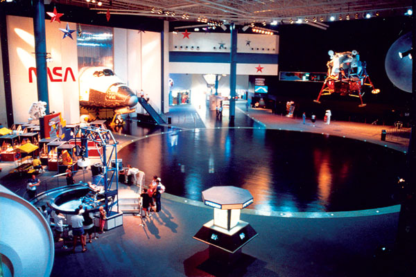 The Houston Space Center museum.