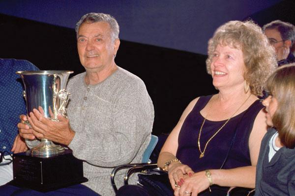 Frank Frazetta, with Ellie Frazetta and granddaughter.