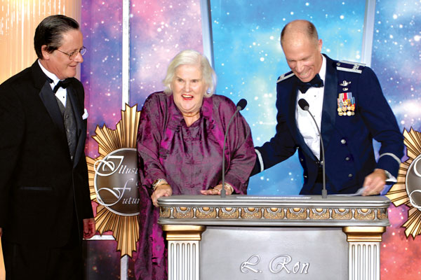 Tim Powers, Anne McCaffrey and Colonel Rick Searfoss.