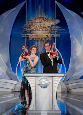 Gold Award Winners (illustrator) Hunter Bonyun and (writer) David Carani.