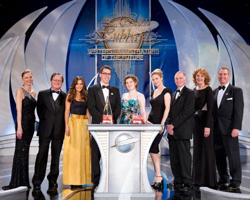 Gold Award Winners (center) with Gunhild Jacobs, Tim Powers, Marisol Nichols, Kristin Bauer van Straten, Ron Lindahn, Joni Labaqui and John Goodwin.
